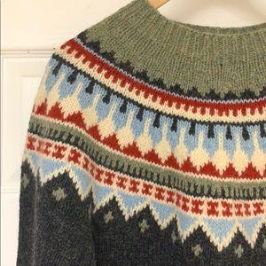 Eddie Bauer Nordic Sweater. Size S